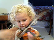 abbi playing the violin