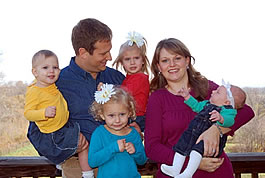 josh and kerin and kids