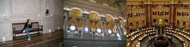 In the Great Hall at the Library of Congress; Beautiful arches above the Great Hall; Library of Congress Reading Room