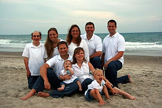 Beall family at the beach 2009